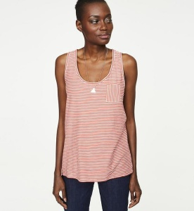 "Tanktop ""Kate Small Stripes"" - rot/weiß"