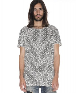"Nudie T-Shirt ""Olle Graphic Allover"" - black/beige"