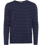 "Longsleeve ""Domian Stripes"" - navy/dusk blue"