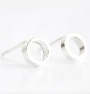 "Wild Fawn Ohrstecker ""Small Circle Studs"" - silber"