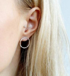 "Wild Fawn Ohrstecker ""Hammered Circle Studs"" - silber"