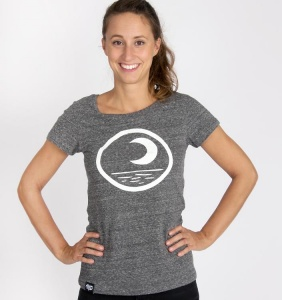"Damen T-Shirt ""Moon"" - grau"
