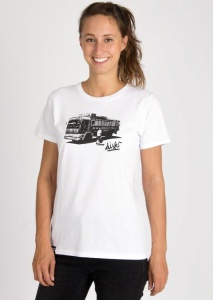 "Damen T-Shirt ""Sri Lanka Bus"" - weiß"