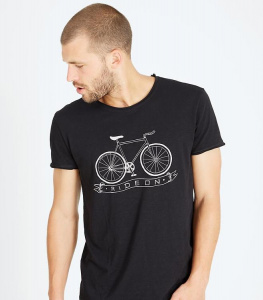"T-Shirt ""Ride On"" - schwarz"