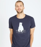 "T-Shirt ""Polar Bear"" - navy"