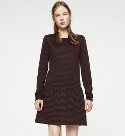 "Robe ""Somaja Stripes"" - bordeaux/noir"