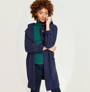 "Fleece-Mantel ""Yvette"" - navy"