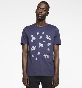 "T-Shirt ""James Penguin Forest"" - navy"