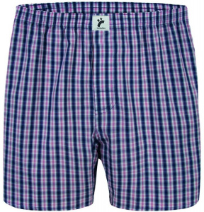 "Boxershorts ""Classic Checked"" - navy/rot/weiß"