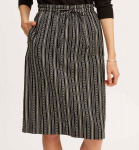 Gina Drawstring Skirt - black