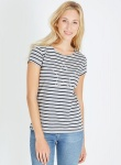"T-Shirt ""Stars'n Stripes"" - grau meliert/navy"