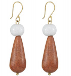 "Ohrringe ""Bead and Wood"" - cream"