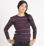 "Feinstrickpullover ""Hola"" (Wolle) - pflaume"