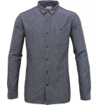 Slub Yarn Shirt - peacoat