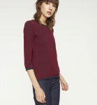"Strick-Pullover ""Neelam"" - navy/cranberryrot"