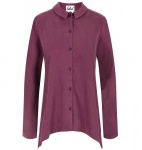 "Bleed ""Cold Dye Bluse"" - aubergine"