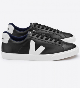 "Veja ""Esplar Low logo Leather"" - black pierre"