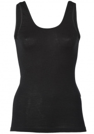 Women's Tank Top, Wool/Silk - black