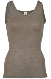 Women's Tank Top, wool/silk - walnut