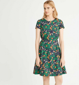 Danielle Marigold Print Dress