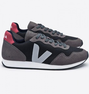 "Veja Schuh ""SDU B-Mesh"" (vegan) - black grafite oxford grey"