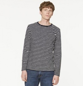 "Longsleeve ""Serge Stripes"" - navy/off white"