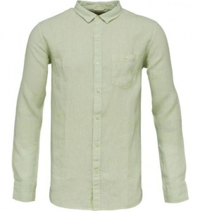 Garment Dyed Linen Shirt - sea creast