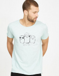 "Mens T-Shirt ""3 Birds"" - mint"