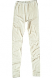 Women's Leggings wool/silk - natural white