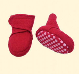 Disana shoes from boiled wool - red