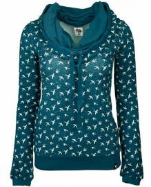 Pull Girl Allover Print - türkisblau