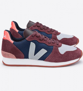 "Veja ""Holiday Low Top B-Mesh"" - navy/burgund/grau"
