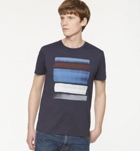 "T-Shirt ""James Strokes"" - navy"