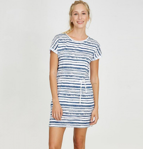 "Shirt-Kleid ""Stripes"" - weiß/blau"