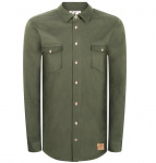 "Chemise Bleed ""Hemp Shacket"" - vert olive"