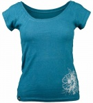 "Women Tee ""Graphic Flower"" - blau"