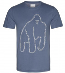 "T-Shirt ""James Wordy Gorilla"" - indigo"