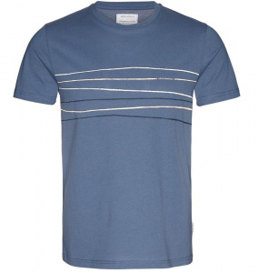 "T-Shirt ""James Crooked Lines"" - indigo"