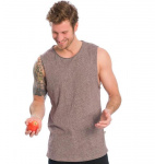 "Chemisette Bleed ""Curved Tanktop"" - rouge foncé"