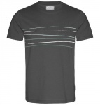 "T-Shirt ""James Crooked Lines"" - grauschwarz"