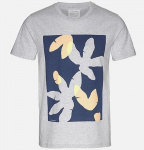 "T-Shirt ""James Jungle Leaves"" - grau melange"