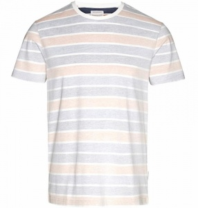 "T-Shirt ""James Inside Stripes""- apricot"