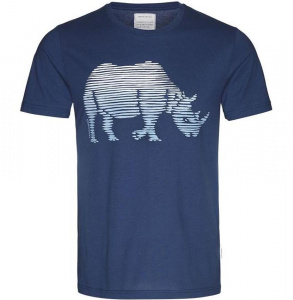 "T-Shirt ""James Rhino Lines"" - blau"