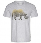 "T-Shirt ""James Rhino Lines"" - grau melange"