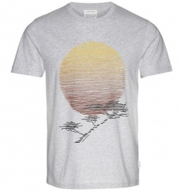 "T-Shirt ""James African Tree"" - grau melange"
