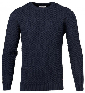 Small Diamond Knit - dunkelblau