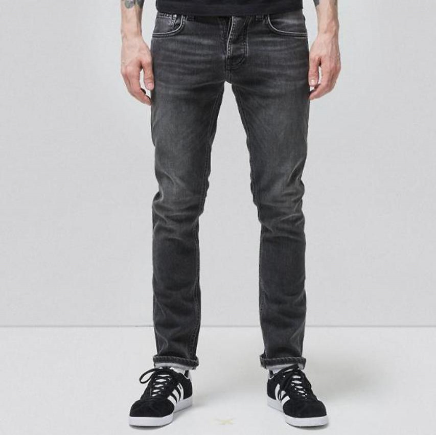 "Nudie Jeans ""Grim Tim"" - grey authentic"
