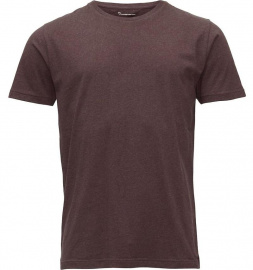 Basic Regular Fit O-Neck T-Shirt - braun meliert