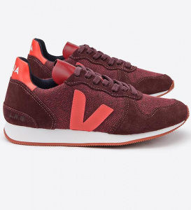 "Veja Schuh ""Holiday Pixel"" - burgund/orange"