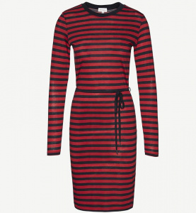 "Kleid ""Lilia Bold Stripes"" - navy/rot"